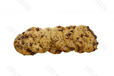Some cookies isolated on a white background