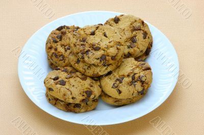 plate of fresh homemade peanut butter cookies