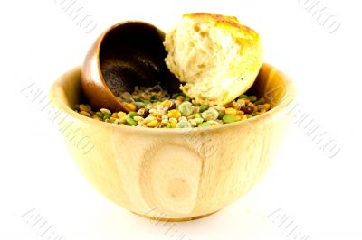 Soup Pulses and Crusty Bread