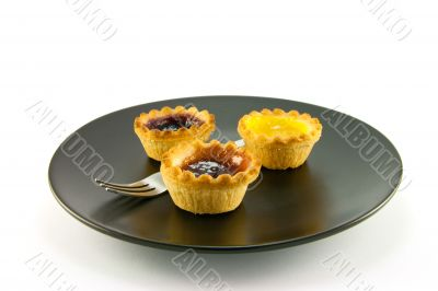 Three Jam Tarts