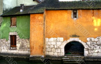 Colorful buildings in Annecy, France