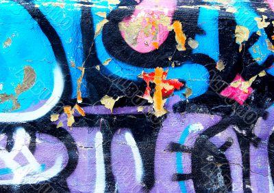 urban colorful graffiti fragment