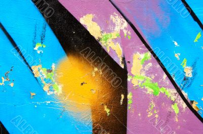urban colorful graffiti fragment