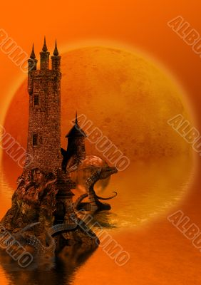 Tower with a dragon