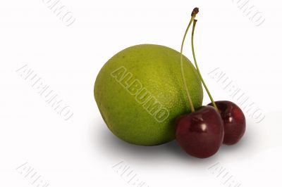 lime and sweet cherry