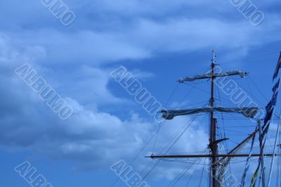 Sails against the blue sky