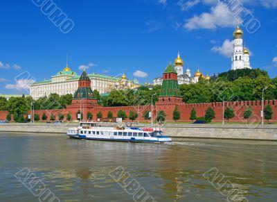 Moscow kremlin type through river