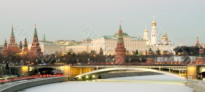 Moscow type on moscow kremlin in winter