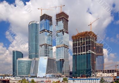Moscow construction of the business centre