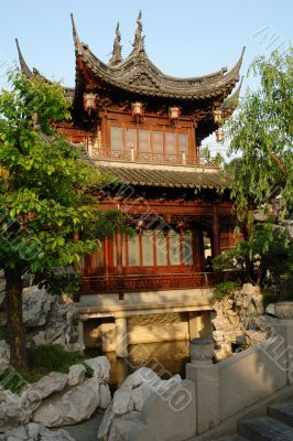 One of the pavilions of Yu garden, Shanghai, China