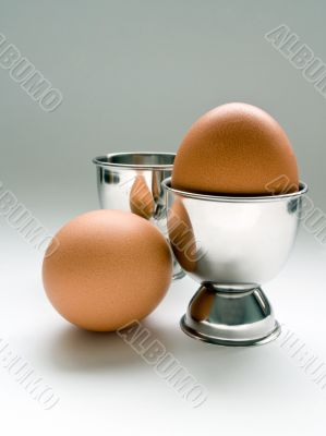 Chicken egg in stand