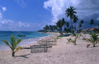 Village`s beach - Saona island - Dominican republic