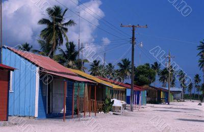 typical village - Saona island  - Dominican republic