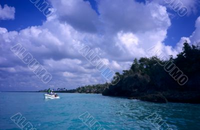 Saona island lagoon and coast- Dominican republic