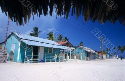 Colored houses - Saona island village - Dominican republic