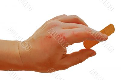 abrasional male hand