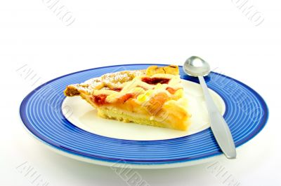 Slice of Apple and Strawberry Pie