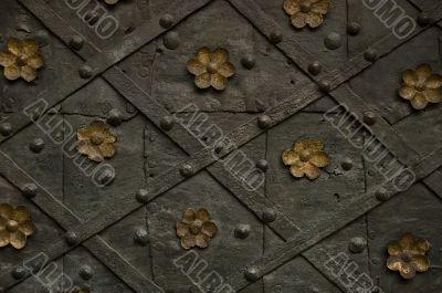 steel monastery door texture