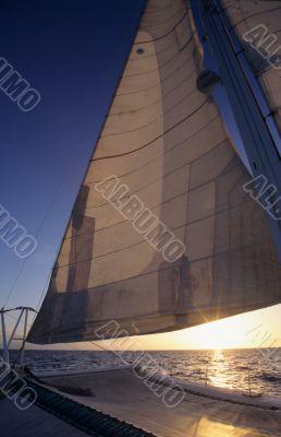 Catamaran on Caribbean sea - Dominican republic