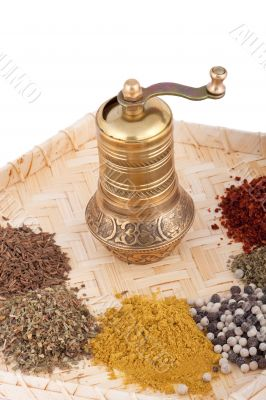 Spice mill made of brass