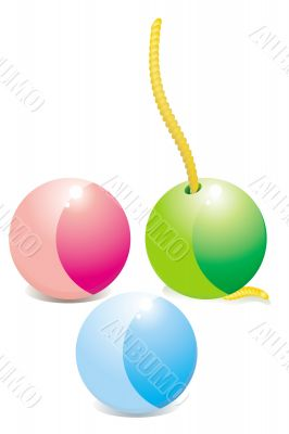 the vector image of the multicoloured balls