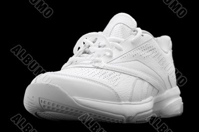 Sport shoes isolated on the black