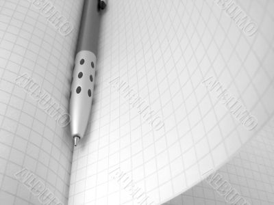 pen and workbook