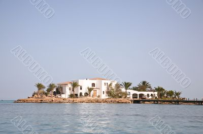 Hotel on small island