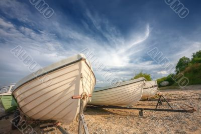 Boats on a coast