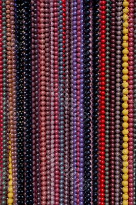 Different coloured necklaces