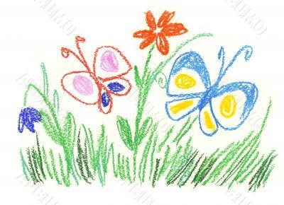 Happy summer meadow