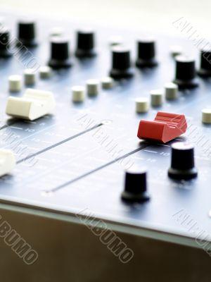 Mix console.