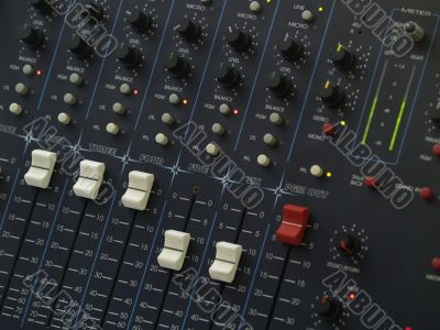 Audio Mix Console
