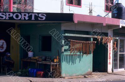 Local butchery shop - Dominican republic island
