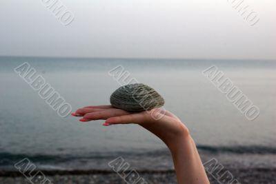 stone on hand
