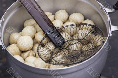Thai pisces dumplings in the pot