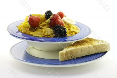 Cornflakes and Fruit with Toast