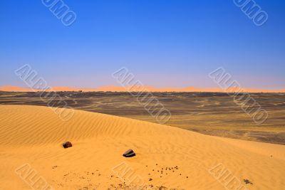Edge of Sahara desert