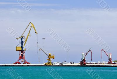 Cranes, loading equipment, port of Heraklion