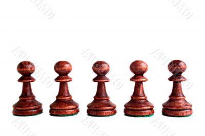 Black pawns