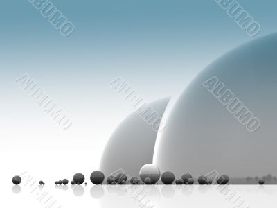 Abstract pattern from balls