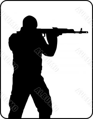 Shooting Man Silhouette
