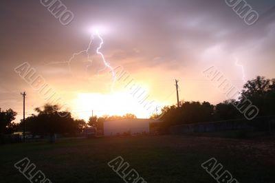 Lightning Strikes A House