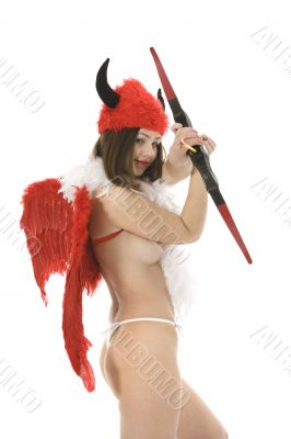 Sexual devil Kupedon with bow
