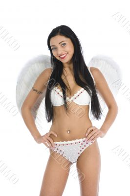 Sexual angel  on insulated background