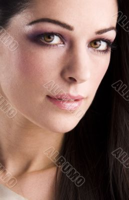 Close-up portrait of a beautiful woman.