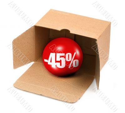 sale concept - 45 percent