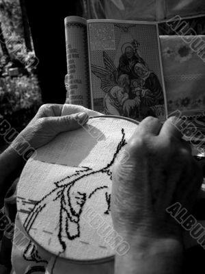 grandmother decorated icons.