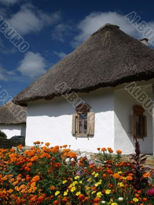 Ukrainian National house  in  Sorochyntsi village.