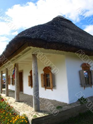 Ukrainian National house  in  Sorochyntsi village